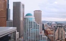 городское wamu башни seattle Стоковое Изображение