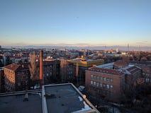 Городской взгляд над Софией, Болгарией Стоковое фото RF