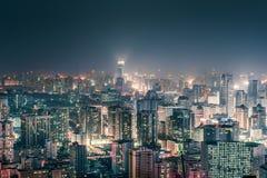 Городской взгляд ночи CBD стоковые изображения