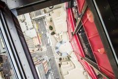 Городской взгляд центра города Калгари сверху стоковая фотография rf