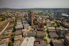 Городской горизонт Ванкувера в Британской Колумбии Стоковая Фотография