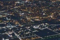 Городской горизонт на ноче Стоковые Изображения RF