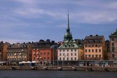 городской горизонт stockholm Стоковая Фотография
