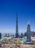 Городской Дубай с Burj Khalifa и Дубай Fou стоковое изображение rf