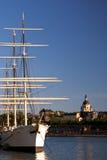 городской исторический плавая сосуд stockholm Стоковое Изображение RF
