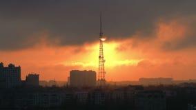 Городской ландшафт захода солнца