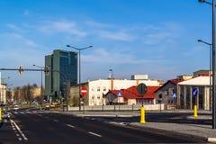 Городской ландшафт на примере города Лодза, Польши Стоковое фото RF
