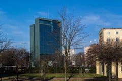 Городской ландшафт на примере города Лодза, Польши Стоковые Изображения RF