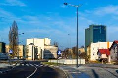 Городской ландшафт на примере города Лодза, Польши Стоковые Фотографии RF