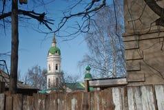 Городской ландшафт старого русского города стоковая фотография rf