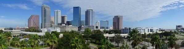 Городской панорамный горизонт города Downtwon Тампа Флориды стоковое изображение rf