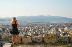 Городской пейзаж Афин Стоковые Фото