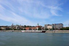 Городской пейзаж берега реки Будапешта Дуная Стоковые Фотографии RF