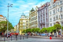 Городской пейзаж весны Праги Стоковое фото RF