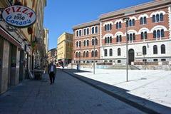 Городской пейзаж в Кальяри стоковые изображения rf