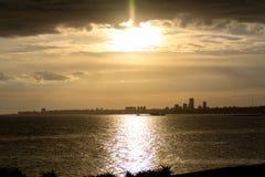 Городской пейзаж в Монтевидео, Уругвае стоковая фотография