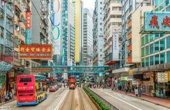 Городской пейзаж Гонконга на дневном свете стоковые фото