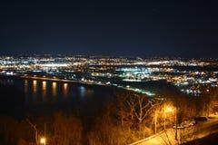 Городской пейзаж горной вершины Стоковые Фото