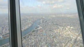 Городской пейзаж города Токио сток-видео