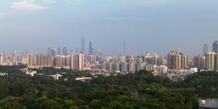 Городской пейзаж Гуанчжоу Китая стоковая фотография