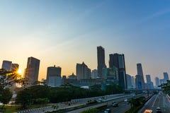 Городской пейзаж Джакарты стоковые фотографии rf