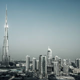 Городской пейзаж Дубая Стоковые Изображения RF