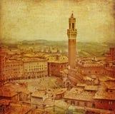 городской пейзаж Италия siena Тоскана Стоковые Изображения