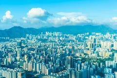 Городской пейзаж красивого здания архитектуры внешний Гонконга стоковые фотографии rf