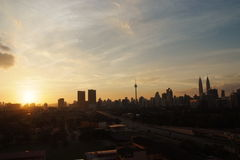 городской пейзаж Куала Лумпур стоковые изображения rf
