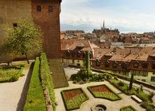 Городской пейзаж Лозанны с церковью Свят-Francois, Лозанной, Switzer Стоковые Фотографии RF