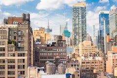 Городской пейзаж Манхаттан Нью-Йорка стоковые изображения