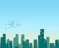 городской пейзаж милый Стоковые Изображения RF