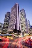 Городской пейзаж на сумраке в районе Shinjuku, токио, Японии Стоковое Изображение