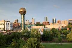 Городской пейзаж Ноксвилл Теннесси с башней Sunsphere Стоковая Фотография RF