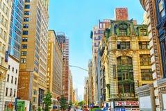 Городской городской пейзаж Нью-Йорка Район центра города США Стоковая Фотография RF