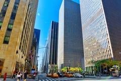 Городской городской пейзаж Нью-Йорка Район центра города США Стоковые Фотографии RF