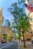 Городской городской пейзаж Нью-Йорка Район центра города США Стоковые Изображения RF