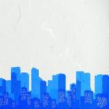 Городской пейзаж отрезока бумаги риса Стоковое Фото