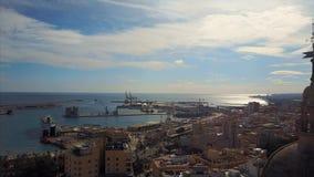 Городской пейзаж от неба акции видеоматериалы