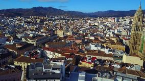 Городской пейзаж от неба видеоматериал