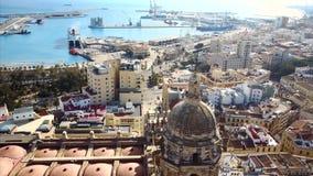 Городской пейзаж от неба сток-видео