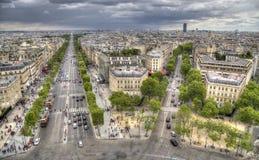 Городской пейзаж Парижа, Франции стоковые изображения