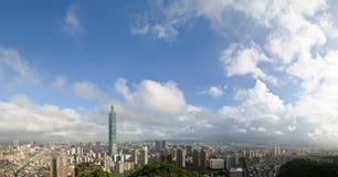 городской пейзаж пасмурный taipei Стоковые Фотографии RF