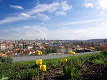 Городской пейзаж Праги весной Стоковое фото RF