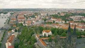 Городской пейзаж Праги видеоматериал