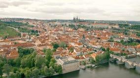 Городской пейзаж Праги сток-видео