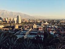 Городской пейзаж Сантьяго de Чили Стоковые Фотографии RF