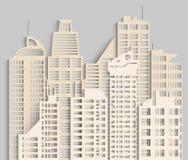 Городской пейзаж сделанный из бумаги Стоковое фото RF