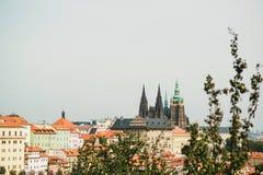 Городской пейзаж старого городка в Праге, чехии Стоковое Изображение