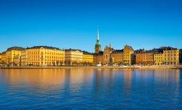 Городской пейзаж Стокгольма Горизонт столицы Швеции Стоковые Изображения